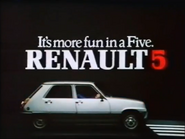 Renault 5 AS TVC 1983