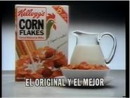 Comercial corn flakes de kellogs