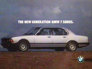 BMW 7 Series AS TVC 1986
