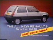 Renault 5 AS TVC 1985