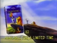 Walt Disney Masterpiece Collecton - The Lion King VHS URA TVC 1995