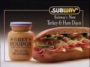 Subway Turkey & Ham Dijon sub