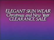 Elegant Skin Wear AS TVC - Christmas and New Year Clearance Sale 1986