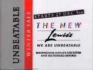 Lewis's AS TVC - Unbeatable Winter Sale - 1986