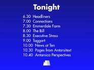 Antarsica Tonight lineup 1988