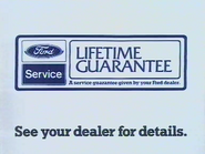 Ford Service Lifetime Guarantee AS TVC 1984