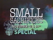 CTV promo - Small Sacrifices - 1989