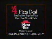 Pizza Hut 4 Dollar Pizza Deal URA TVC 1991 - Part 4