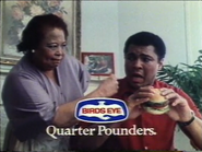 Birds Eye Quarter Pounders AS TVC 1981 2