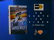 Warner Home Video RLN TVC - Club Familie - Sauvez Willy 2 VHS - 1996