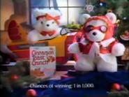 Cinnamon Toast Crunch Santa bear giveaway TVC Christmas 1987