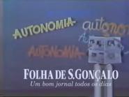 Folha de S Goncalo TVC 1985