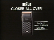 Braun System 123 1986 TVC Gonghei and Neicao
