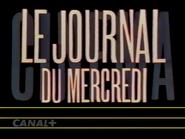 Canal Plus bumper - Le Journal de Mercredi - 1992 - 2