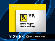 Globetel clock - Yellow Pages - 2002