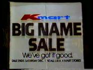 (1985) Kmart television commercial - Big Name Sale