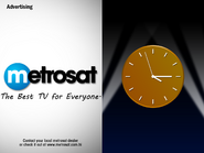 Foxtel - Metrosat clock 1997