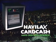 Havilax Cardcash AS TVC 1985