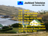 Joulkland lineup Christmas Eve 1998