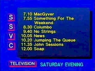 SSVC Saturday evening lineup 1989