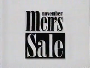 The Bon Marche November Men's Sale URA TVC 1991 - Part 1