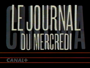 Canal Plus bumper - Le Journal de Mercredi - 1992