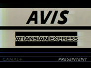 C Plus sponsor - Avis Atlansian Express - 1987