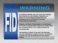 Omega FID screen - 1991 - VHS