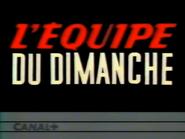 C Plus bumper - L'Equipe du Dimanche - 1990
