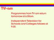 TV AM closedown 1976
