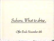 Subaru Legacy L URA TVC 1991 - Part 3