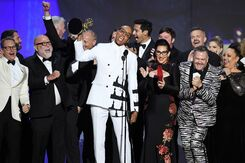 RuPaul with an Emmy