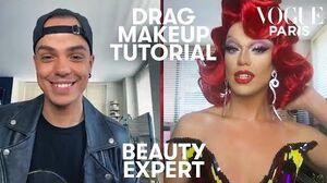 Drag queen makeup tutorial Nicky Doll teaches a beginner Beauty Expert Vogue Paris