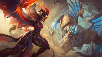 Skin Splash Dragon Guardian Galio and Dragonslayer Kayle.jpg