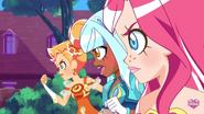 Iris regroups with Auriana and Talia