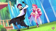 Iris kicks Mephisto's leg