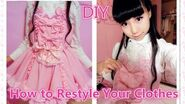 Kawaii DIY Dress- How to Restyle Your Old Clothes to Lolita Dress