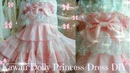 Kawaii DIY - How to Sew Sweet Dolly Princess Dress(easy) - Lolita fashion