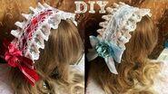 Easy DIY Cute Hair Accessories! DIY Headpiece! 简单 DIY Lolita 发带!