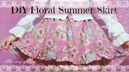 DIY Bell-Shaped Floral Summer Skirt ( Easy)