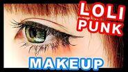 Japanese Kawaii LOLI-PUNK Makeup tutorial|森永めるのロリパンメイク2016年版