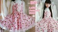 DIY-Sew a cute cupcake Lolita Jumper Skirt in 2 Hours(easy) for School