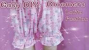 DIY How to Sew Dolly Bloomers (Easy&Cute)
