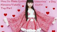 Kawaii DIY-How to Sew A Fancy Lolita Kimono Yukata (Part 1 Top) for Special Occasions