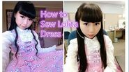 How to Sew Sweet Lolita Dress for Beginners- Without Zipper and Elastic Band