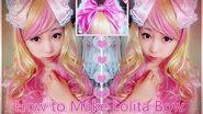 DIY Easy Hair Bow Lolita Headbow
