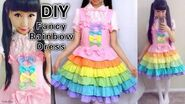 DIY Rainbow Dress Sewing a Fancy Lolita Dress With me from Scratch