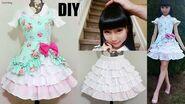 DIY Easy Victorian Inspired Classic Dress + Underneath Ruffle Skirt Lolita Inspired Fashion DIY