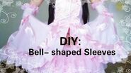 DIY- Easy way to make cute bell-shaped sleeves(Seperate)Lolita fashion&cosplay