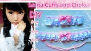 DIY- Wrist Cuffs and Choker - Lolita Fashion
